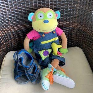 ALEX Discover Learn To Dress Monkey & Kids Sandles